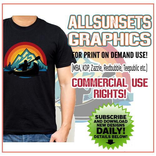 Premade Retro Sunset Premium Graphics